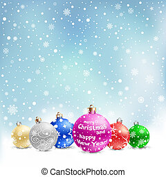 christmas bauble snow