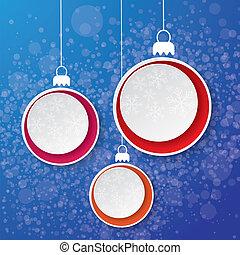 Christmas Bauble Snowflake Paper La