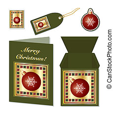 Christmas bauble stationery