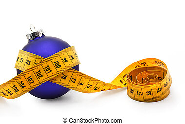 Christmas Bauble tape measure - Tape measure around a bauble...