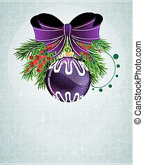 Christmas bauble with lilac bow