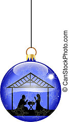 Christmas bauble with nativity scene