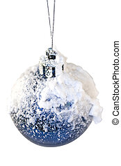 Christmas bauble with snow
