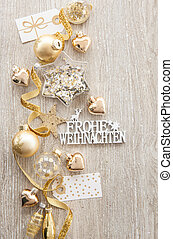 Christmas baubles and decorations - Various christmas ...