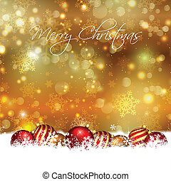 Christmas baubles background - Christmas background with...