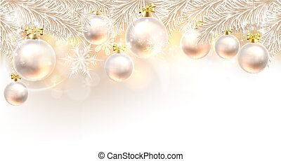 Christmas Baubles Background - Christmas background bauble...