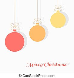 Christmas baubles background.