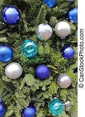 Christmas Baubles Blue