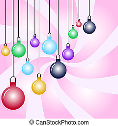 Christmas baubles - Christmas bauble background