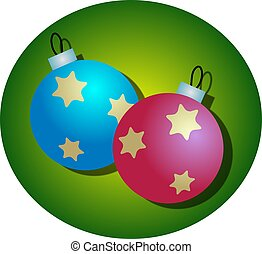 Christmas Baubles - Christmas bauble decorations.