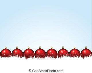 Christmas baubles - Christmas background with baubles in...