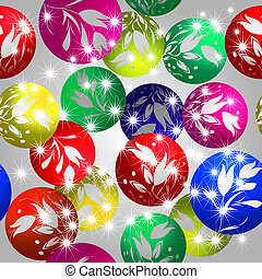 Christmas baubles design - Shining Christmas tree baubles, ...