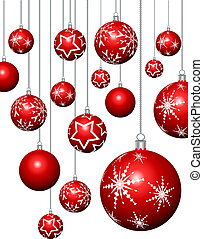 Christmas baubles  - Hanging Christmas baubles