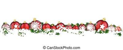 Christmas Baubles Headline Snow Banner