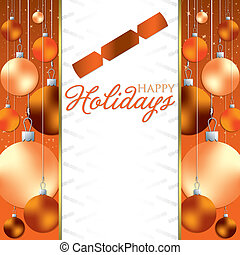 Christmas baubles invitation card in vector format.