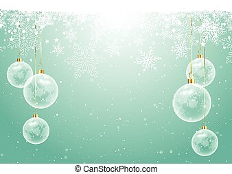 christmas baubles on snowflake background 0310