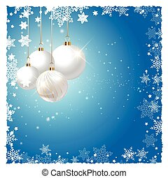 christmas baubles on snowflake background 1411
