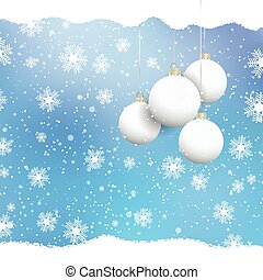christmas baubles on snowflake background 2010