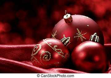 Christmas Baubles - Pretty Christmas baubles with seasonal ...