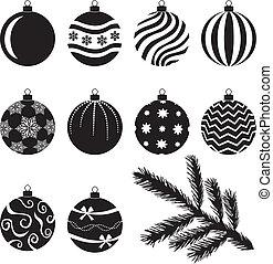 Christmas baubles set