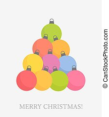 Christmas baubles tree