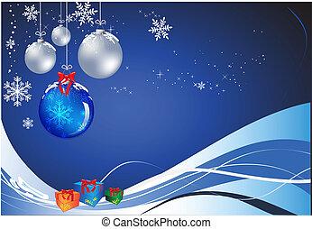 Christmas Baubles - Vectorial clover christmas composition....