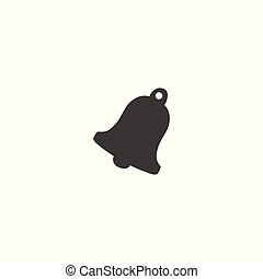 Christmas bell closeup isolated icon vector. Bell silhouette