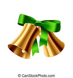 Christmas bell - Vector illustration of a Christmas bell