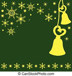 Christmas Bell green yellow