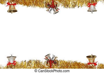 Christmas bell hanging gold garland
