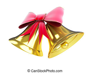 christmas bell on a white background