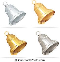 Christmas bell set on white background - Vector Jingle bells...