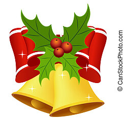 Christmas bell with bow