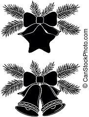Christmas bells and star