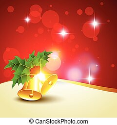 christmas bells background - beautiful glowing christmas...