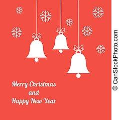 Christmas bells background.