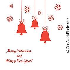 Christmas bells background