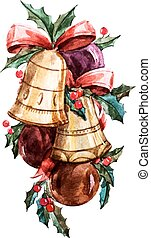 Christmas bells - Beautiful vector image with nice...