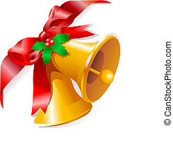 Christmas bells corner - Page corner with Christmas bells. ...