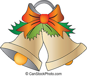 Christmas bells - Vector drawing of Christmas bells