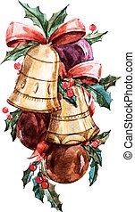 Christmas bells - Beautiful vector image with nice...