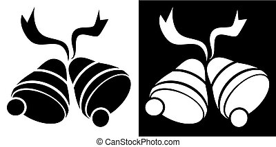 christmas bells icon vector illustration image scalable to...