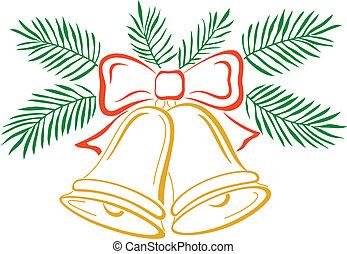 Christmas bells, pictogram
