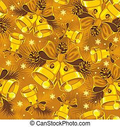 Christmas bells seamless pattern