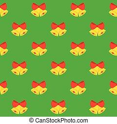 Christmas Bells Seamless Pattern.