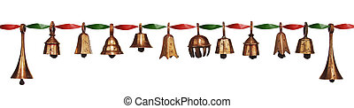 Christmas Bells - Stylish antique Christmas bells assorted...