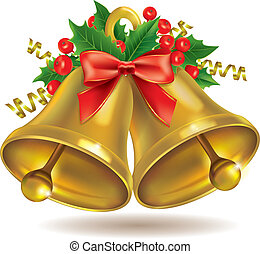 Christmas bells. Contains transparent objects. EPS10 format