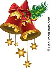Christmas bells with a stars