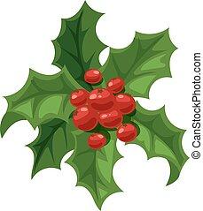 Christmas berry decoration vector set. - Merry Christmas...