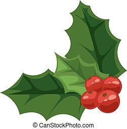 Christmas berry vector illustration. - European christmas ...
